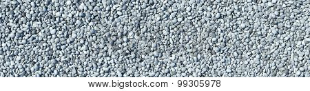 Panorama background with many gravel and stones (3D Rendering)