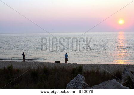 Surf pesca no crepúsculo 3