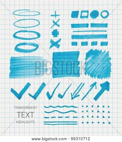Blue Marker Set