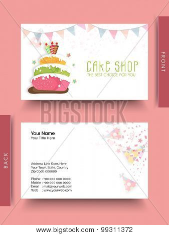 Business card or visiting card set for Cake Shop.