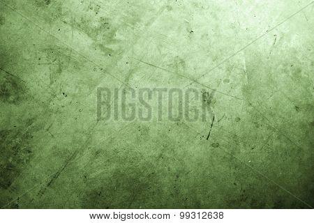 Closeup of rough green textured floor