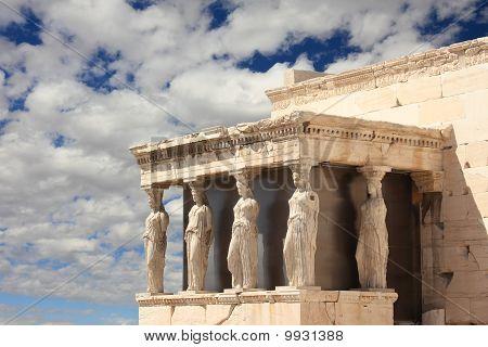 Caryatid Porch In Acropolis, Athens, Greece