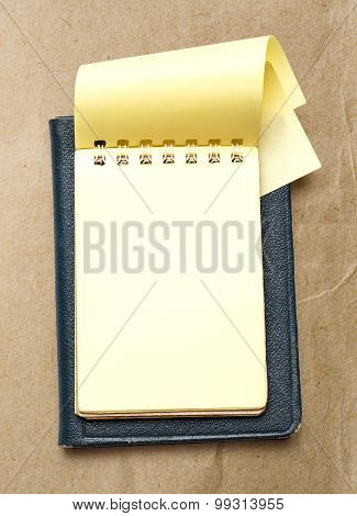 Yellow Blank Notepad With Open Page