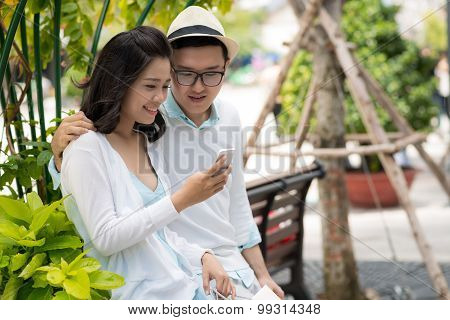 Showing Photo On Smartphone