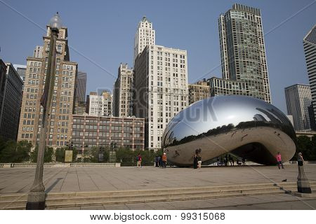 Cloud Gate  in Millennium Park Chicago