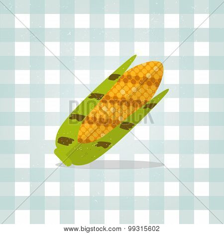 Icon corn illustration in flat style