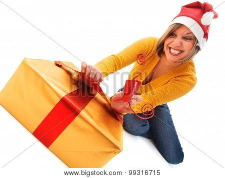 Woman With Christmas Present