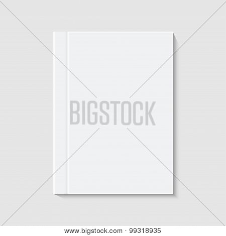 vector modern white book or brochure