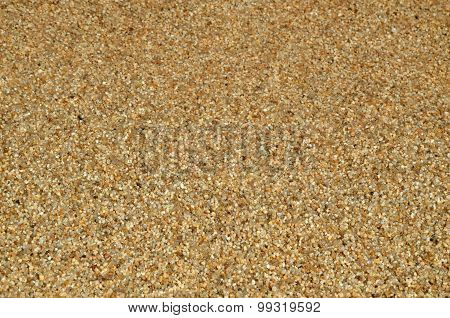 Wet Small Sea Pebbles As Background