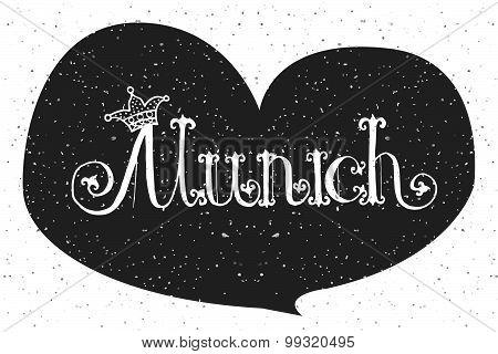 Vector Illustration Of Munich Logotype