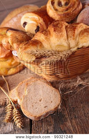 croissant and bread