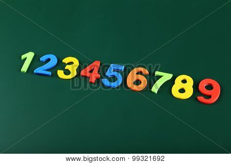 Colorful numbers on school board