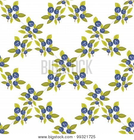 Bilberry Seamless Pattern