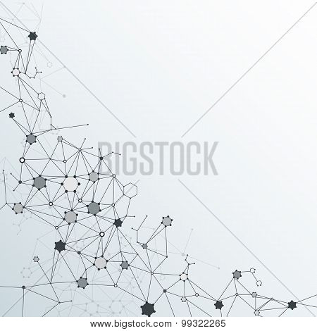 Vector Abstract  Dna Molecule. Communication technology concept