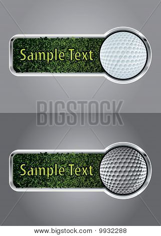 Golf Ball Banner Set 1