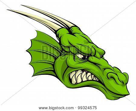 Green Dragon Mascot