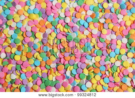 Colorful sprinkles background