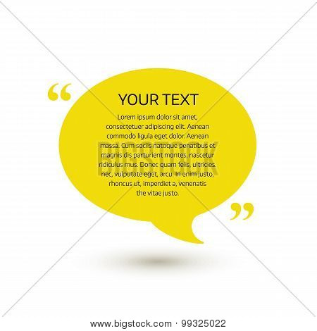 Quote text bubble. Vector