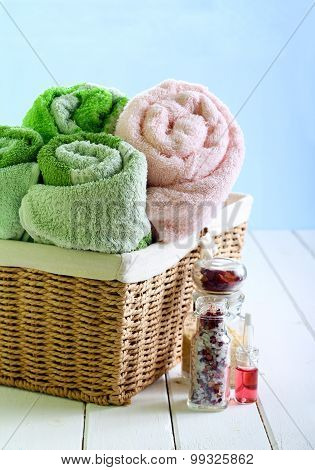 Spa Setting With Towels,