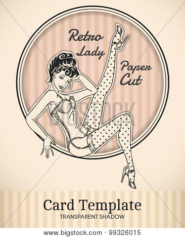 Pin-up Girl Card