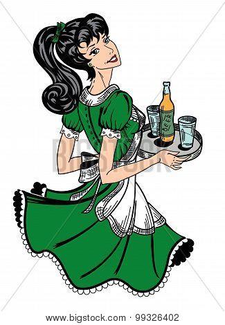 Pinup Waitress