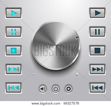 Metal volume button and setting volume buttons
