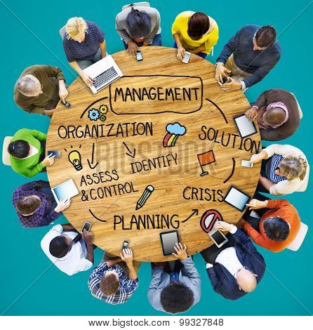 Management Solution Planning Organization Authority Concept