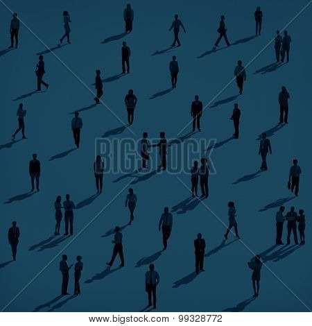 Business People Silhouette Group Corporate Concept