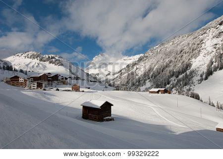 The Picturesque Alpine Village Of Warth, Austria