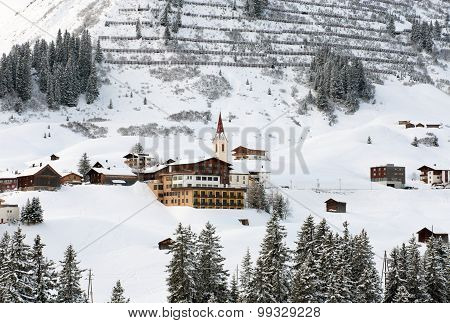 The Picturesque Alpine Village Of Warth-Schrocken, In Austria