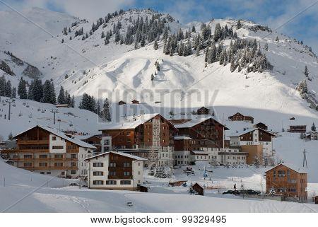 The Picturesque Alpine Village Of Warth-schr?cken, In Austria
