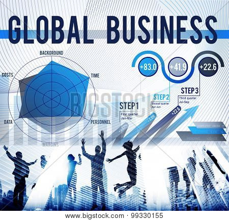 Global Business Strategy Startup Growth Concept