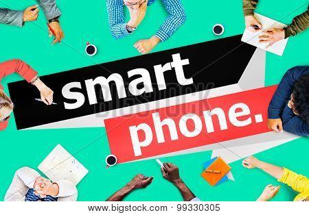 Smart Phone Conference Communication Concept