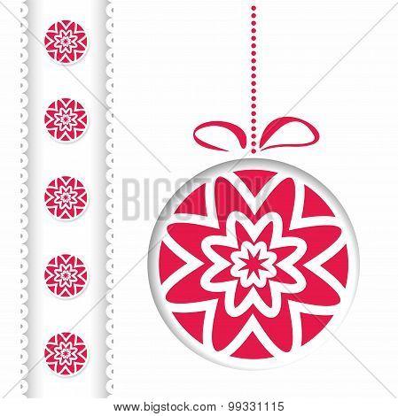 Vector Abstract Christmas Card