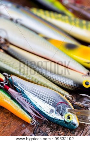 Selective Focus Closeup Fishing Bait Wobbler