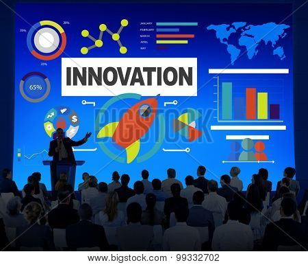 Business People Seminar Creativity Growth Success Innovation Concept