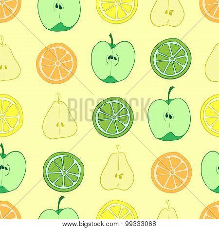 Seamless fruit cuts