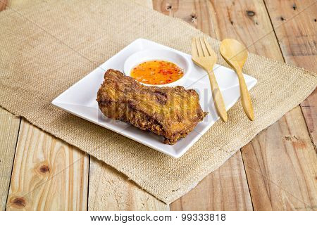 Deep Fried Chicken On A Plate