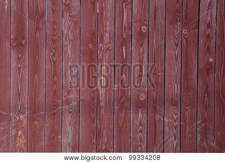 Texture Of Old Red Fence