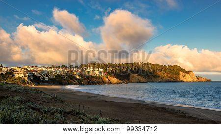 Beautiful clouds over the San Francisco at sunrise, California