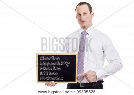 Direction Responsibility Education Attitude Motivation Dream