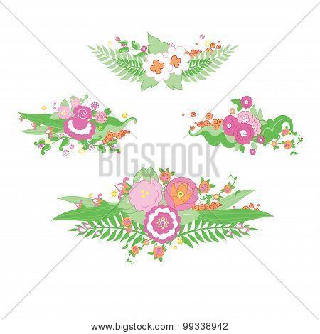 Wedding colorful flower bouquet.
