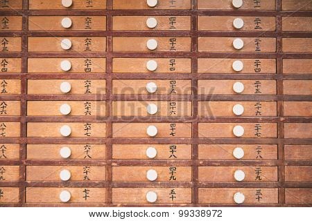 Wooden Prayer Of Shinto Temple