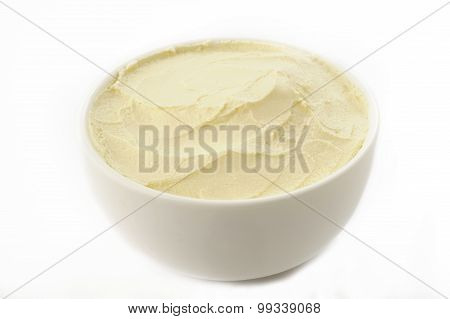 Cream Cheese In White Bowl