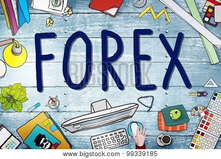 Forex Foreign Exchange Financial Marketing Concept