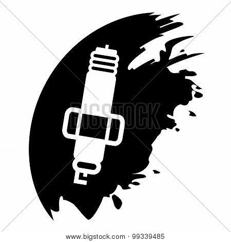 Spark Plug On Black Blob
