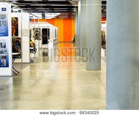 Interior Of An Art Show Exhibition