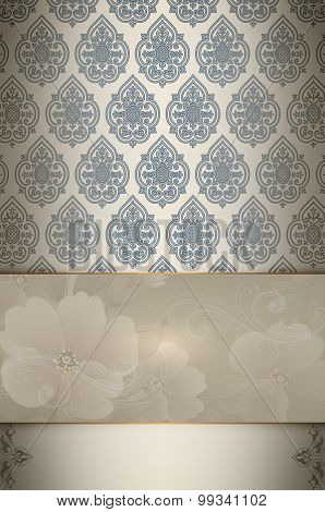 Decorative Background With Flowers.