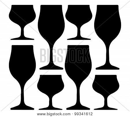 Alcoholic Glass Silhouette