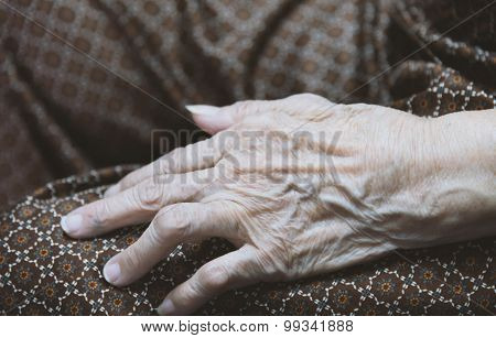 Asian Old Woman 's Hand